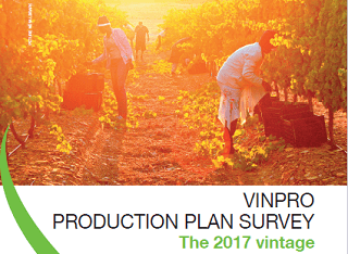 Vinpro Production Plan Survey Results: 2017 vintage