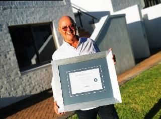 Vinpro honours Johann Krige, Kanonkop